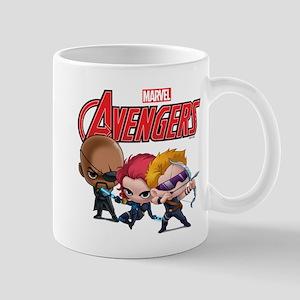 Chibi Hawkeye-Widow-Fury Stylized Mug