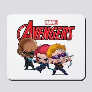 Chibi Hawkeye-Widow-Fury Stylized Mousepad