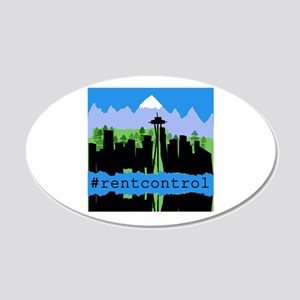 Rent Control in Seattle 20x12 Oval Wall Decal