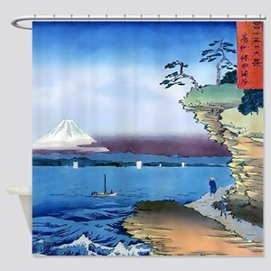 Cliff Bluff View Mt. Fuji Shower Curtain
