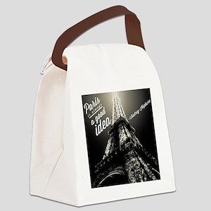 Audrey Hepburn Paris Canvas Lunch Bag