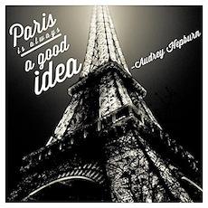 Audrey Hepburn Paris Poster