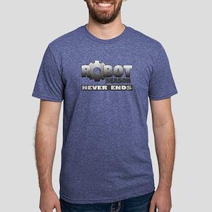 Robot Season Never Ends -Mens Tri-Blend T-Shirt