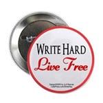 """Write Hard"" 2.25"" Button"