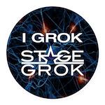 Stage Grok Round Car Magnet