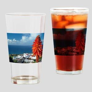Aloe flower Drinking Glass