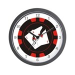 Cracked Aces Wall Clock