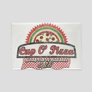 Cup O'Pizza Rectangle Magnet