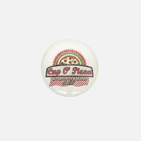 Cup O'Pizza Mini Button
