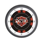 Poker Emblem Wall Clock
