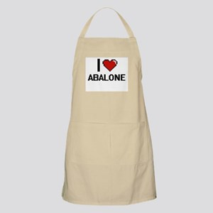 I Love Abalone digital retro design Apron