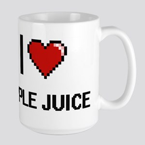 I Love Apple Juice digital retro design Mugs