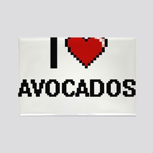 I Love Avocados digital retro design Magnets