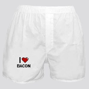 I Love Bacon digital retro design Boxer Shorts