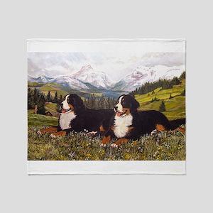 Bernese Mountain Dogs Throw Blanket