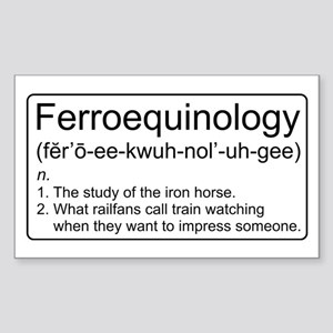 Ferroequinology Defined Sticker