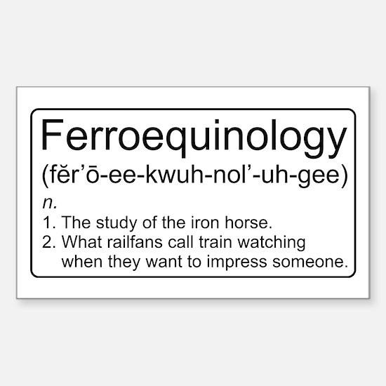 Ferroequinology Defined Decal