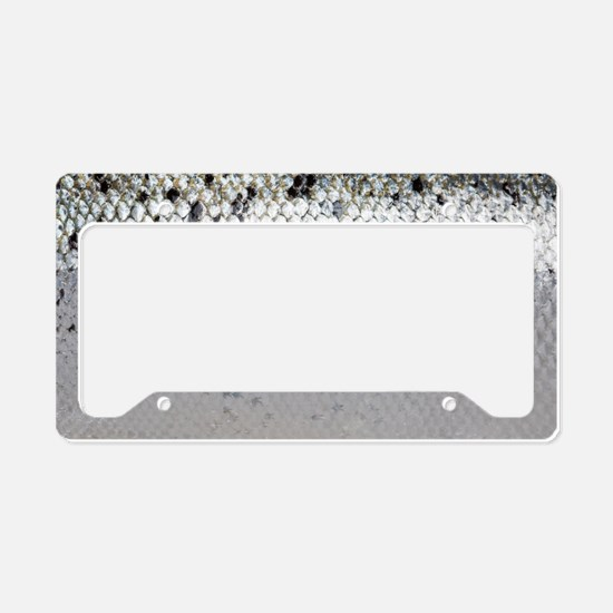 Salmon Scale License Plate Holder