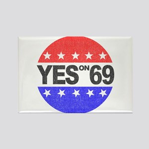YES on 69 Rectangle Magnet