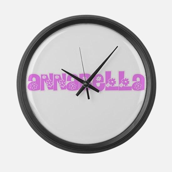Annabella Flower Design Large Wall Clock