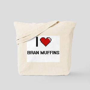 I Love Bran Muffins digital retro design Tote Bag