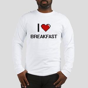 I Love Breakfast digital retro Long Sleeve T-Shirt