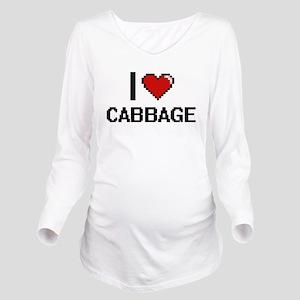 I Love Cabbage digit Long Sleeve Maternity T-Shirt