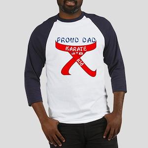 Proud Karate Dad Kid Baseball Jersey