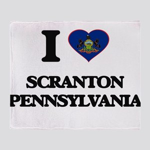 I love Scranton Pennsylvania Throw Blanket