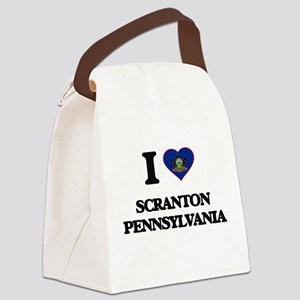 I love Scranton Pennsylvania Canvas Lunch Bag