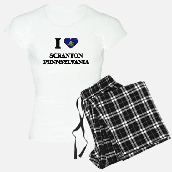 I love Scranton Pennsylvani Pajamas