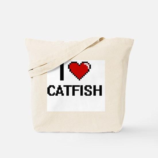 I Love Catfish digital retro design Tote Bag