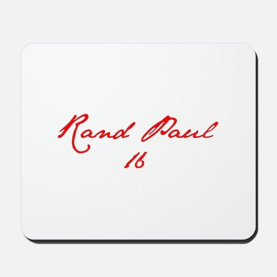 Rand Paul 16-Jan red 9 Mousepad