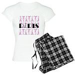 Pink Black Paris Script Pajamas