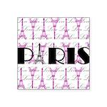 Pink Black Paris Script Sticker
