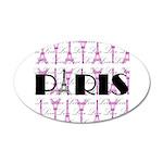 Pink Black Paris Script Wall Decal