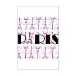 Pink Black Paris Script Posters