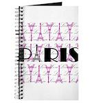 Pink Black Paris Script Journal