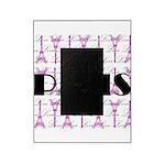 Pink Black Paris Script Picture Frame