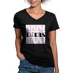 Pink Black Paris Script T-Shirt