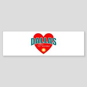 I love Dallas Texas Bumper Sticker