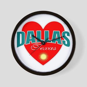 I love Dallas Texas Wall Clock