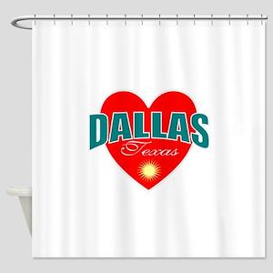 I Love Dallas Texas Shower Curtain