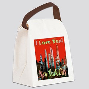 I Love You New York City Canvas Lunch Bag