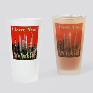 I Love You New York City Drinking Glass