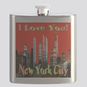 I Love You New York City Flask