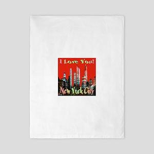 I Love You New York City Twin Duvet
