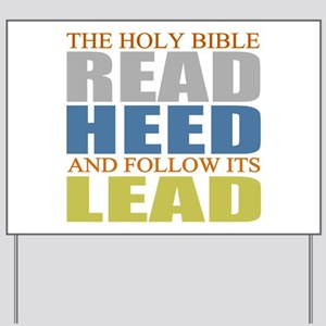 The Bible Yard Sign