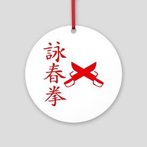 Wing Tsun Round Ornament