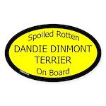 Spoiled Dandie Dinmont Terrier Oval Sticker